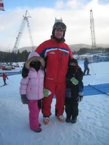 Madison and Tyler with their ski instructor